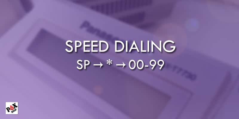 ذخیره شماره در تلفن 7730 / شماره گیری سریع در تلفن پاناسونیک 7730