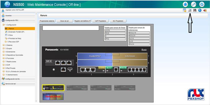 تک رقمی کردن شماره داخلی ها در سانترال ns500