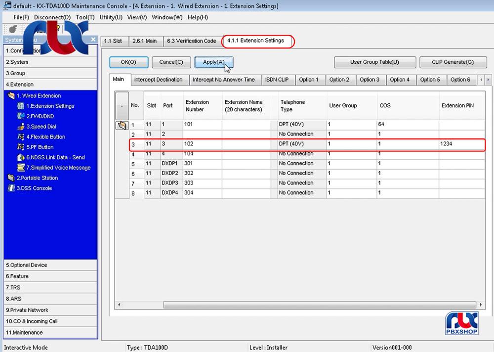کد اعتباری / user remote operation