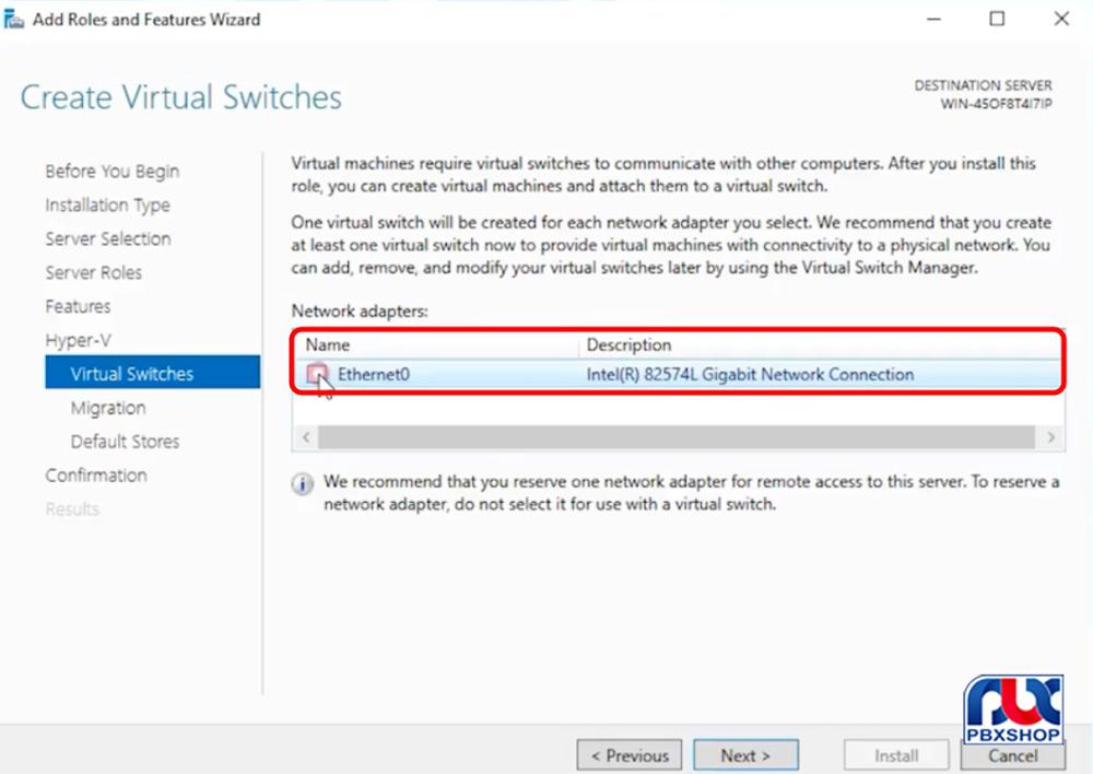 نصب ایزابل از طریق هایپروی بر روی ویندوز سرور