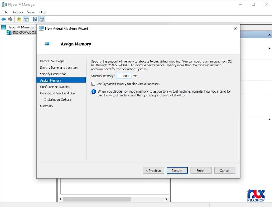 نصب ایزابل از طریق هایپر وی روی ویندوز 10