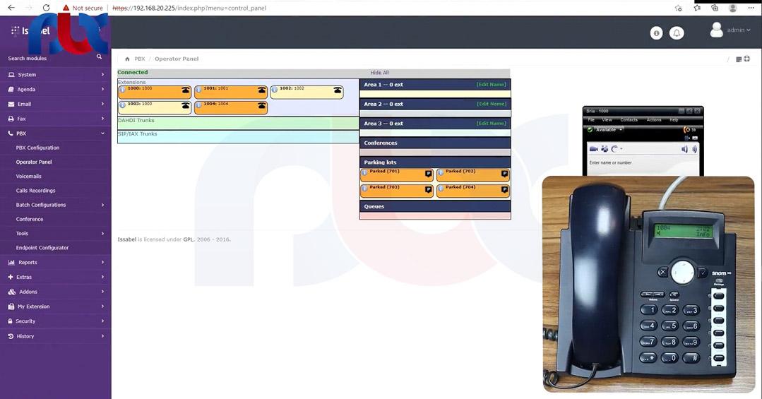 چگونگی راه اندازی داخلی ها روی آی پی فون اسنوم
